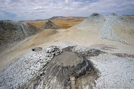 Mud volcanoes of Northern Gobustan.